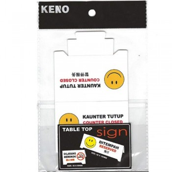 KENO Table Top Sign — COUNTER CLOSED