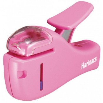 Kokuyo Harinacs Stapleless Stapler - Compact (Pink)