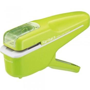 Kokuyo Harinacs Stapleless Stapler - Handy Type (Green)