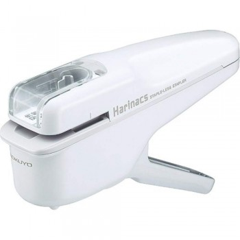 Kokuyo Harinacs Stapleless Stapler - Handy Type (White)