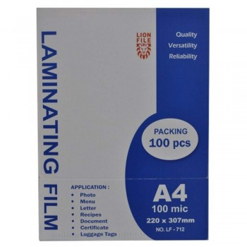 Lion File Laminating Film A4 Size - 220mm x 307mm