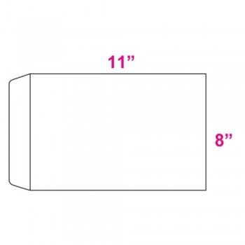 White Envelope - 100gsm - 250 pcs 8-inch x 11-inch (Item No: C03-10)