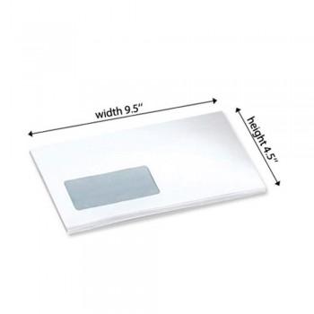 "White Envelope - Window - 100gsm - 500 PCS 4.5"" x 9.5""  (Item No: C03-14)"
