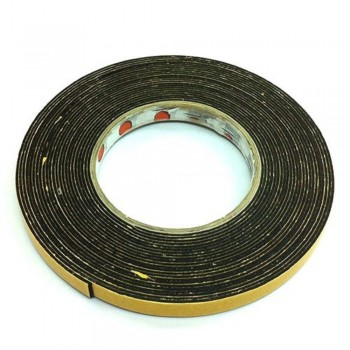 Foam Tape - 12mm x 10m, 3mm thick, Black (Item No: B02-08 DSF12X10) A1R2B49