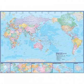 "Map Of World Extra Large W112M - (Magnetic) H44"" x W58"""