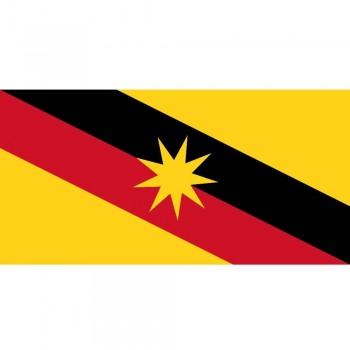 "Sarawak Bendera - Woolen Flag 3x6"" (Item No: C04-09)"