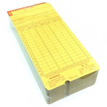 Time Cards - 2-sided (Item No: B01-25) A1R2B24