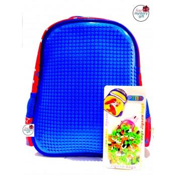 Puzzle Bag Medium Size Blue (888)