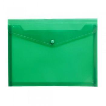 A4 Document Holder Wallet Button Green