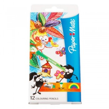 Papermate Colouring Pencils - 12L (Item No: A04-25) A1R1B201
