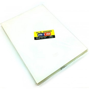 Print n Stick A4 PL Sticker — 297mm x 210mm, 100pcs (Item No: R01-04) A1R3B198