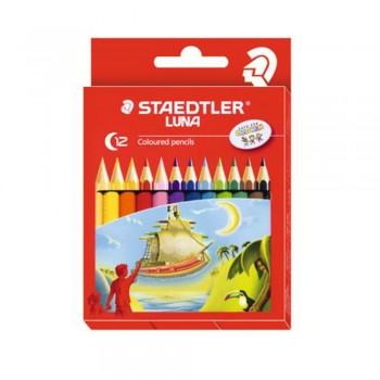 Staedtler Luna Colour Pencil 12 Colours - Half Length