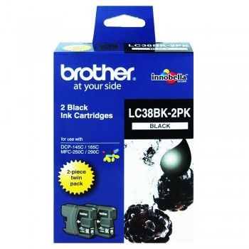 Brother LC-38 Black Twin Pack