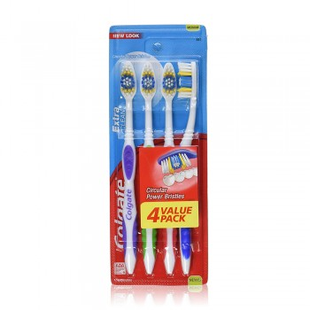 Colgate Extra Clean Toothbrush Value Pack Medium x 4 pcs
