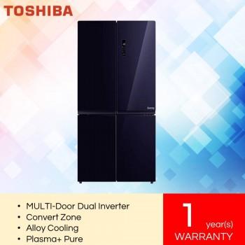 Toshiba GR-RF646WE-PGY Multi-Door Dual Inverter Refrigerator (840L)